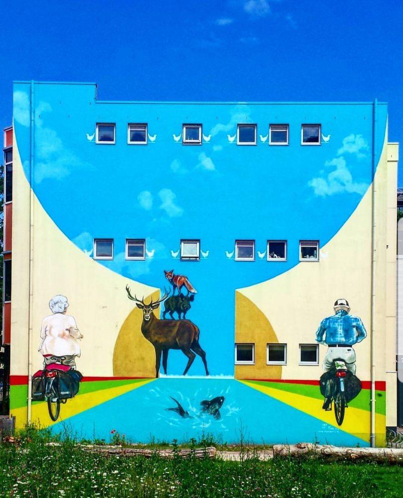 Muurschildering Stationstraat Apeldoorn